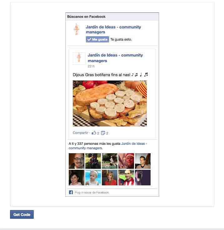 widget de facebook