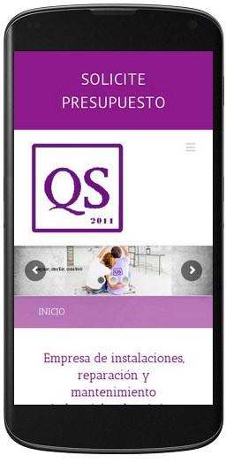 desarrollo web móvil Quim Service