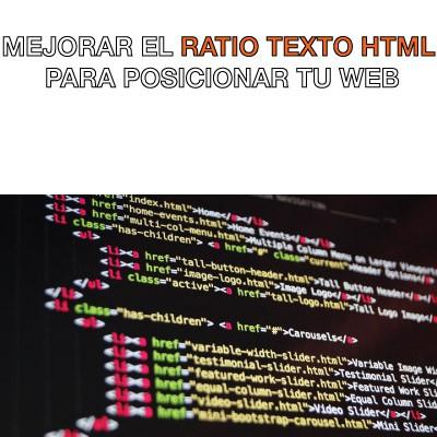 ratio texto html