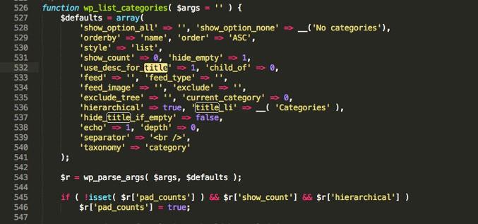 error en las categorías de wordpress solución