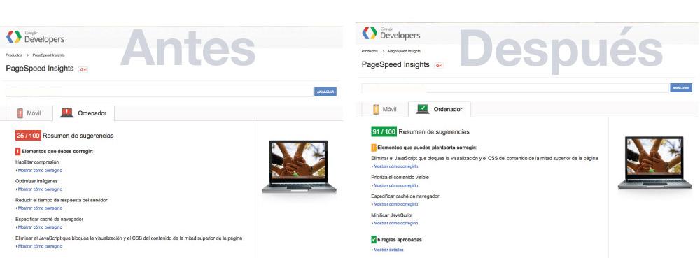 optimización de diseño web