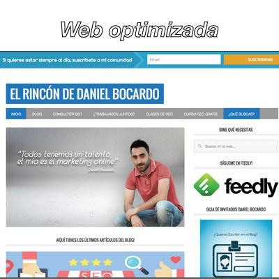 Optimización Web Daniel Bocardo